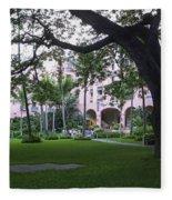 Royal Hawaiian Hotel Entrance Fleece Blanket