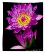 Royal Lily Fleece Blanket