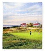 Royal Liverpool Golf Course Hoylake Fleece Blanket