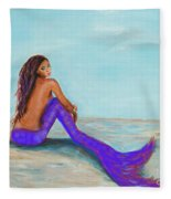 Royal Mermaid Fleece Blanket