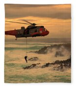 Royal Navy Rescue  Fleece Blanket