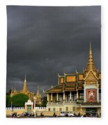 Royal Palace Cambodia Fleece Blanket