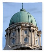 Royal Palace Dome In Budapest Fleece Blanket