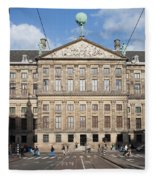 Royal Palace From Raadhuisstraat Street In Amsterdam Fleece Blanket