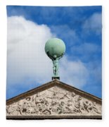 Royal Palace In Amsterdam Architectural Details Fleece Blanket