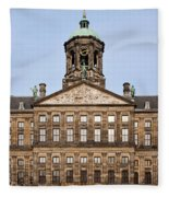 Royal Palace In Amsterdam Fleece Blanket