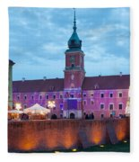 Royal Palace In The Old Town Of Warsaw Fleece Blanket
