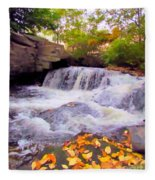 Royal River White Waterfall Fleece Blanket