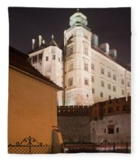 Royal Wawel Castle By Night In Krakow Fleece Blanket