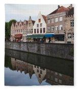 Rozenhoedkaai Bruges Fleece Blanket