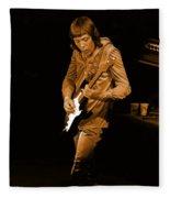Rt #17 Crop 2 Enhanced In Amber Fleece Blanket