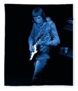 Rt #17 Crop 2 Enhanced In Blue Fleece Blanket