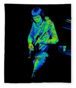 Rt #17 Crop 2 Enhanced In Cosmicolors Fleece Blanket