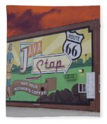 Rt 66 Dwight Il Java Stop Fleece Blanket