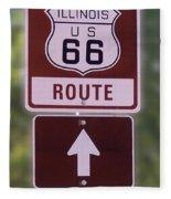 Rt 66 Signage Fleece Blanket