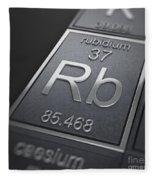 Rubidium Chemical Element Fleece Blanket