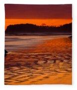 Ruby Beach Afterglow Fleece Blanket