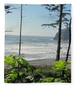 Ruby Beach I Fleece Blanket