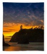 Ruby Beach Olympic National Park Fleece Blanket
