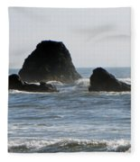 Ruby Beach Sea Stack Fleece Blanket