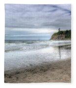 Ruby Beach Summer Fleece Blanket