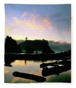 Ruby Beach Sunset Olympic National Park Fleece Blanket