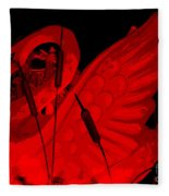 Ruby Red Swan Fleece Blanket