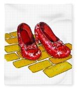 Ruby Slippers The Wizard Of Oz  Fleece Blanket