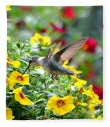 Ruby Throated Hummingbird Fleece Blanket