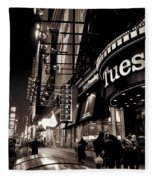 Ruby Tuesday's Times Square - New York At Night Fleece Blanket