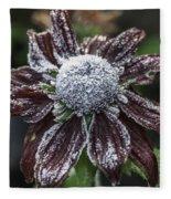 Rudbeckia First Frost Fleece Blanket