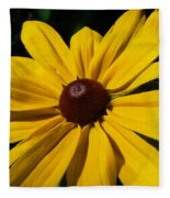 Rudbeckia Macro Fleece Blanket