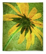 Rudbeckia On Cement Fleece Blanket