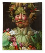 Rudolf II Of Habsburg As Vertumnus Fleece Blanket