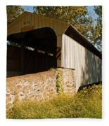 Rudolph Arthur Covered Bridge Fleece Blanket