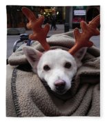 Rudolph Fleece Blanket