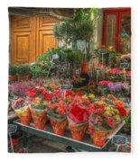 Rue Cler Flower Shop Fleece Blanket