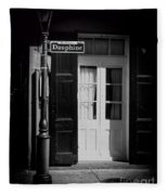 Rue Dauphine French Quarter New Orleans-monochrome Fleece Blanket