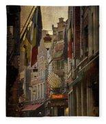 Rue Des Bouchers Fleece Blanket