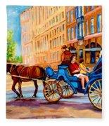 Rue Notre Dame Caleche Ride Fleece Blanket