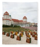 Ruegen Island Beach - Germany Fleece Blanket