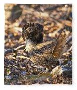 Ruffed Grouse Ruff Fleece Blanket