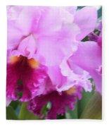 Ruffled Orchids Fleece Blanket