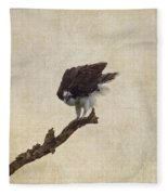 Ruffled Up Osprey Fleece Blanket