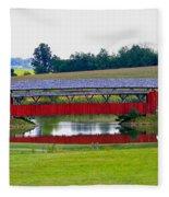 Ruffner Covered Bridge Fleece Blanket