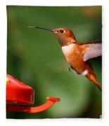 Rufous Hummingbird Fleece Blanket