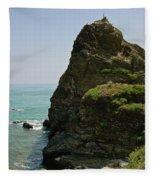 Rugged Cliff  Fleece Blanket