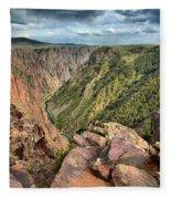 Rugged Edge Of The Canyon Fleece Blanket