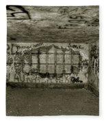 Ruined Bunker Fleece Blanket