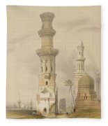 Ruined Mosques In The Desert Fleece Blanket
